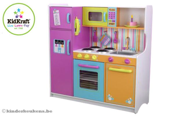 Home Grote vrolijke luxe keukenKinderkeukens.be