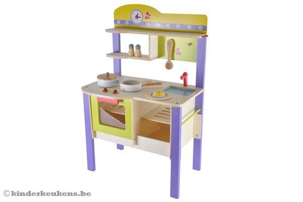 Keuken Kinderen Houten : Woodtoys houten keuken deluxe kinderkeukens be
