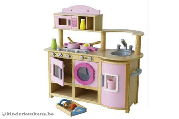 Keuken Accessoires Kinderkeuken : Home Houten keuken All-in rozeKinderkeukens.be