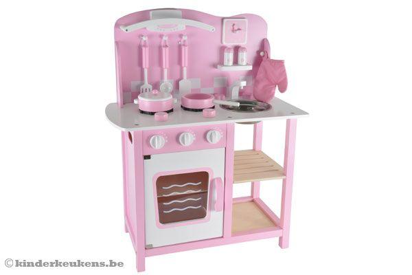 Keuken Accessoires Kinderkeuken : Bandits & Angels Chef Deluxe pink Kinderkeukens.be